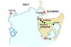 Map of our walking Holidays in Croatia  - Click here to find out more about Croatia
