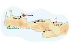 Map of our walking Holidays in Greece - Crete - Click here to find out more about Greece - Crete