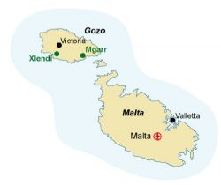 Map of our walking Holidays in Malta - Gozo - Click here to find out more about Malta - Gozo