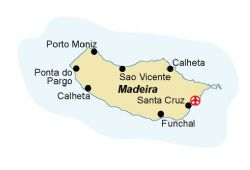 Map of our walking Holidays in Portugal - Madeira - Click here to find out more about Portugal - Madeira