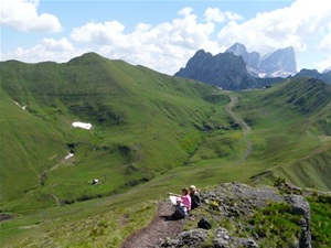 Hiking in Val Di Fassa, Northern Italy